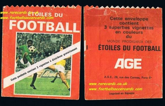 1970 FKS 1st French packet AGEducatifs Soccer Stars promotional version
